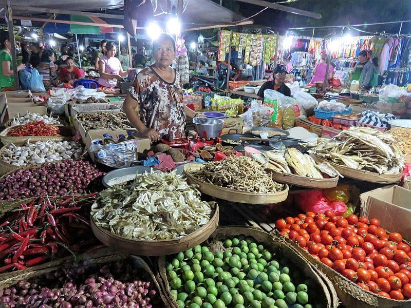 Local night market in North Bali, Indonesia