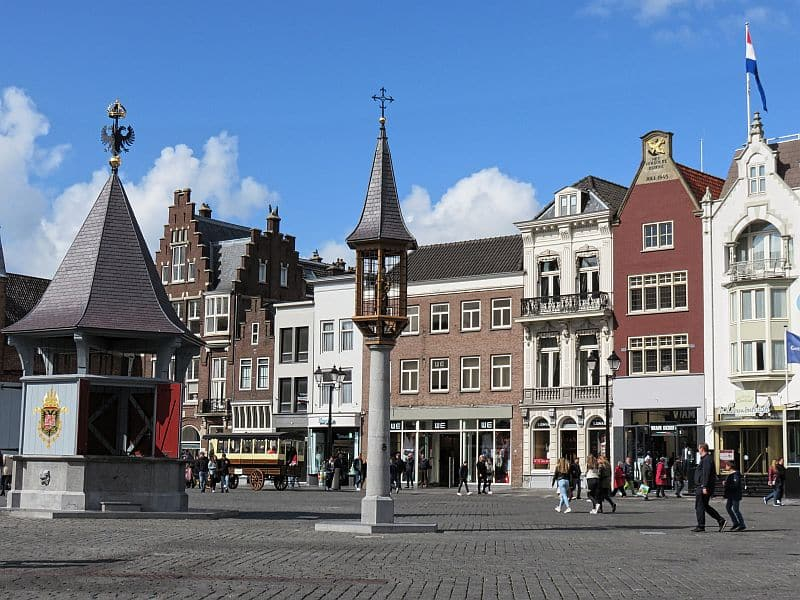 Market Square, Den Bosch, the Netherlands, Brabant, North Brabant, water well