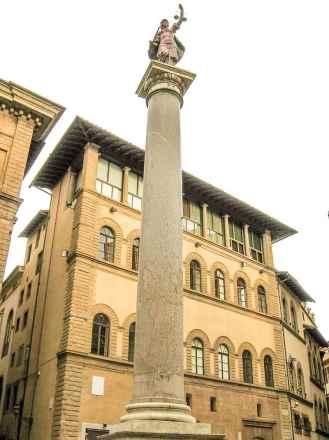 The Roman Column on Piazza di Santa Trinita