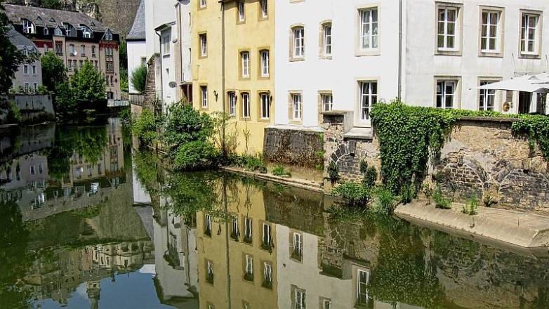 Grund and the River Alzette in Luxembourg City