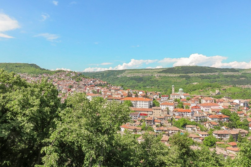 Veliko Tarnovo - view from Sveta Gora