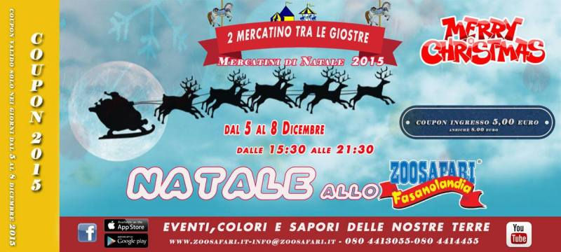 Coupon Sconto Mercatini di Natale 2015 Zoo Safari Puglia