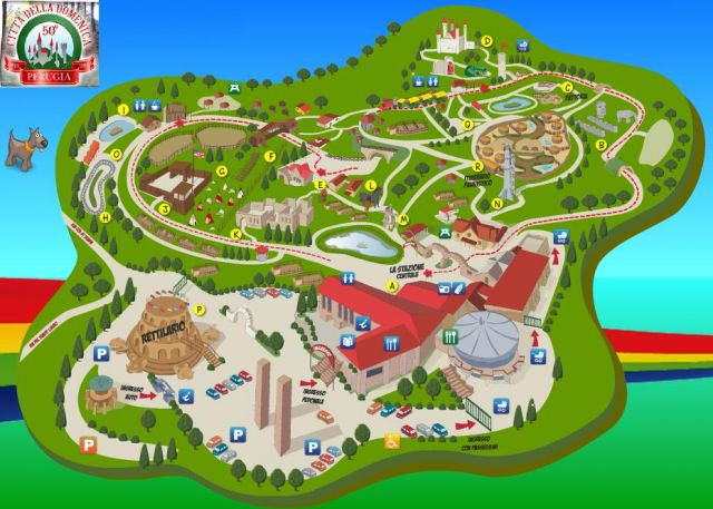 Citta della Domenica a Perugia, il parco divertimenti dell'Umbria