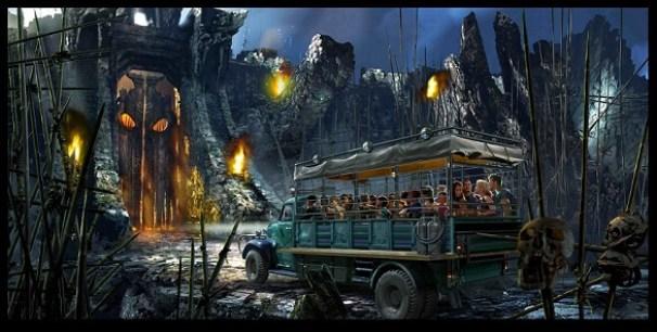 I video della nuova attrazione Skull Island: Reign of Kong presso gli Universal Orlando Resort in Florida