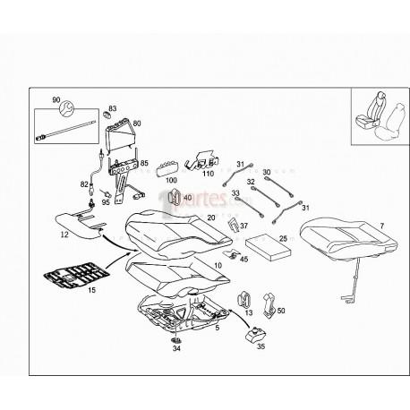 Sensor de pasajero|Mercedes-Benz|Clase C|W203|A2038701951