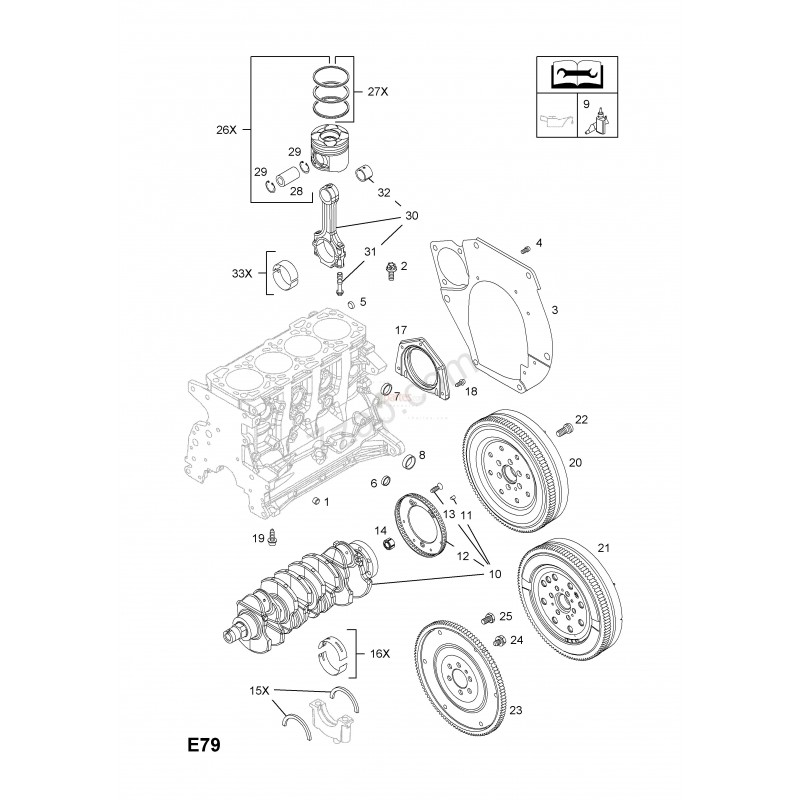 Volante de inercia|Chevrolet|Cruze|Astra|Opel|Vectra|Alfa
