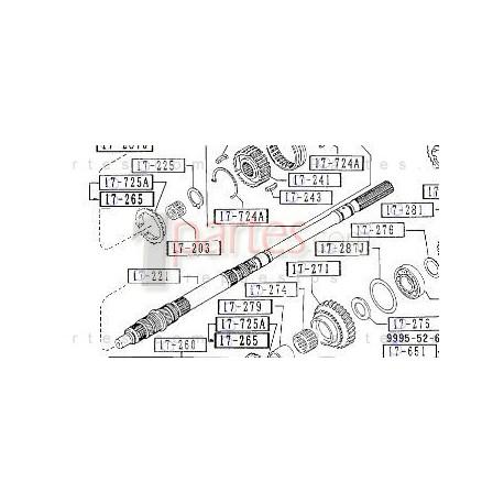 Eje principal Mazda B2000 Mazda B2000 M50517221A