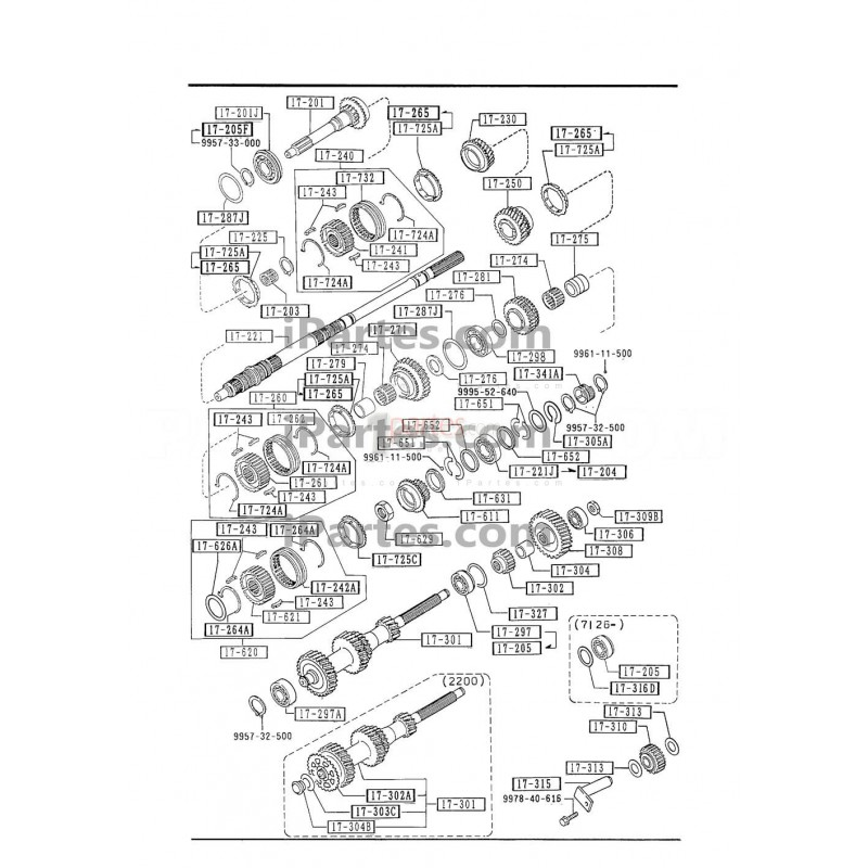 Eje principal|Mazda|B2000|Mazda|B2000|M50517221A