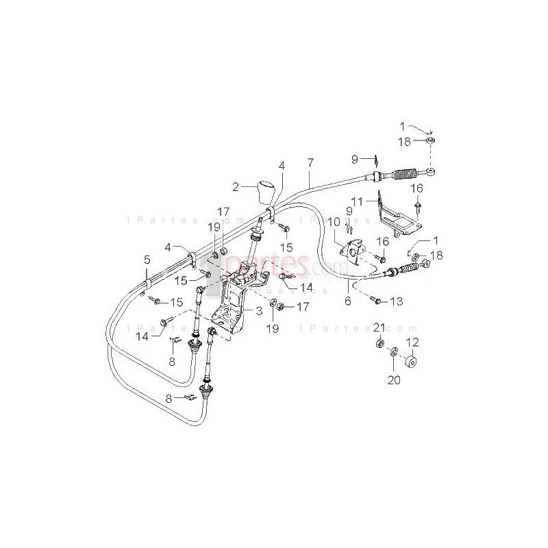 Cable de cambios Kia Pregio Kia Pregio 0K75A46500B Grupo