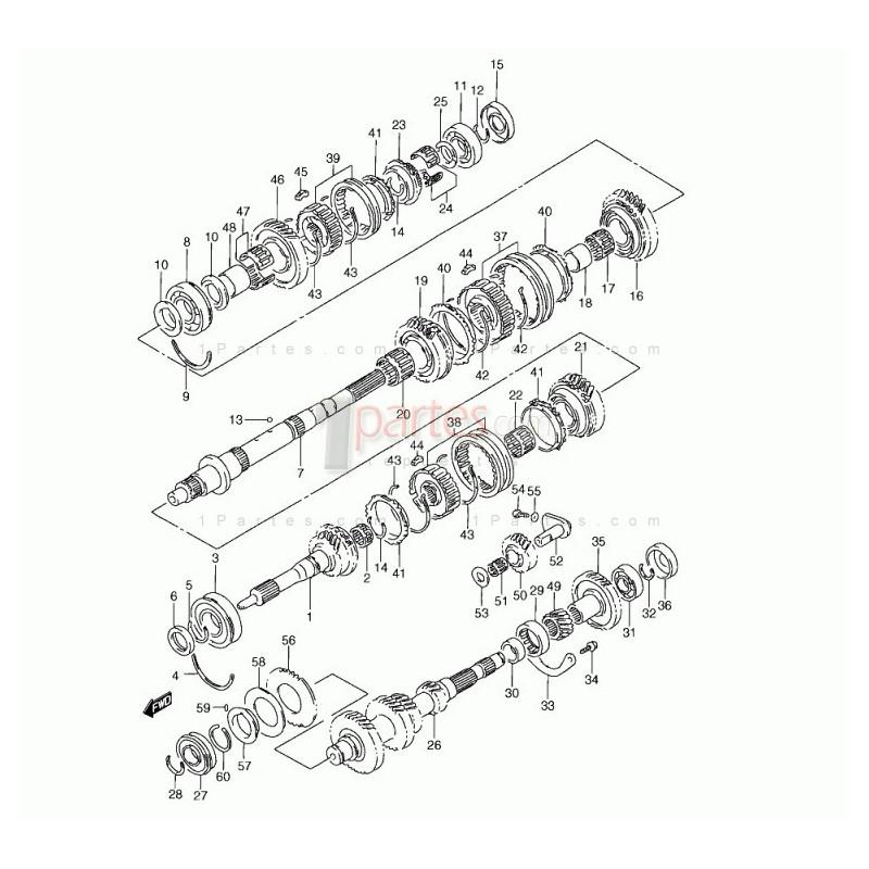 Arbol de salida|Chevrolet|Grand Vitara|Suzuki|Grand Nomade