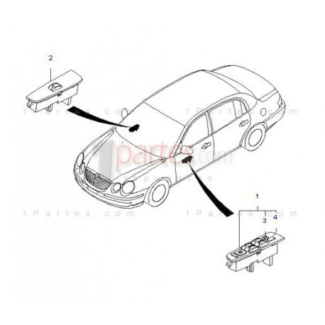 Control de vidrios eléctricos derecho (copiloto)|Kia