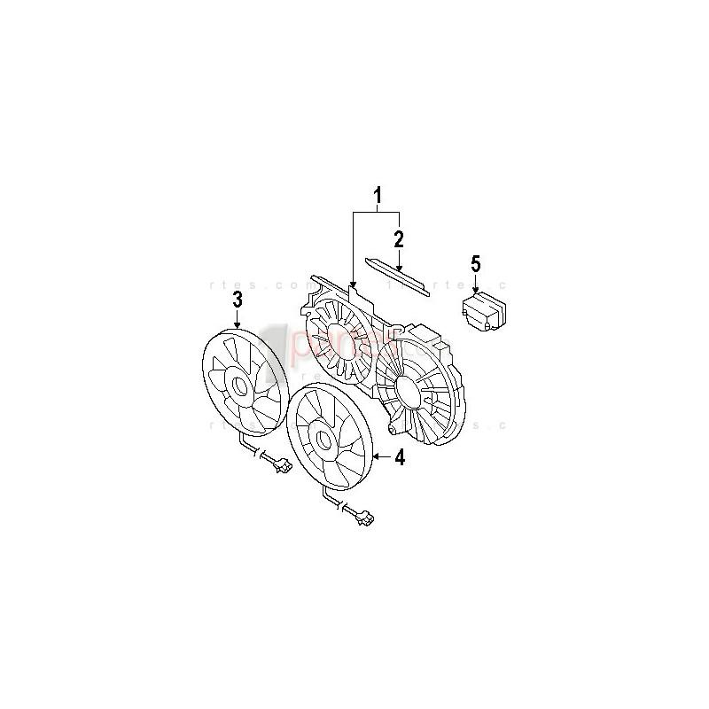 Módulo de control de electroventiladores|Audi|A4|A6|C6a|C5