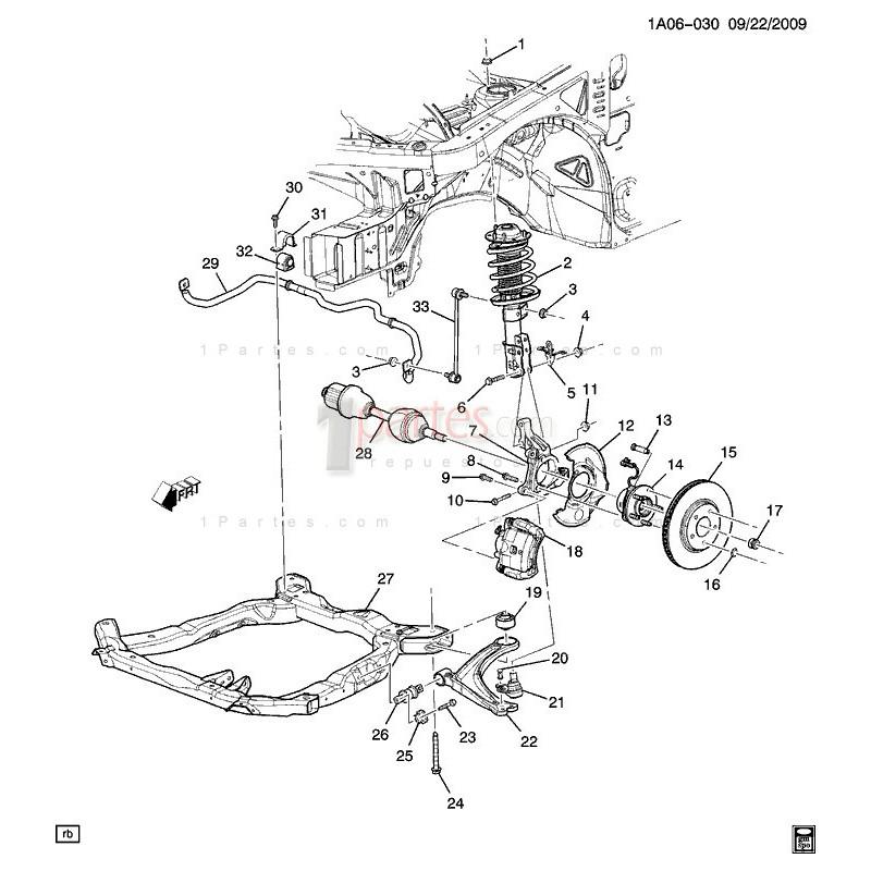 Maza con rodamiento|Chevrolet|Cobalt|HHR|Pontiac|G5|Saturn