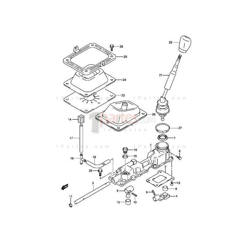 Asiento de la palanca de cambios|Chevrolet|Grand Vitara