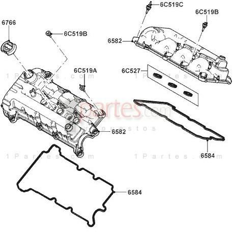 Tapa válvulas izquierdo (piloto)|Ford|Escape|Fusion|Taurus