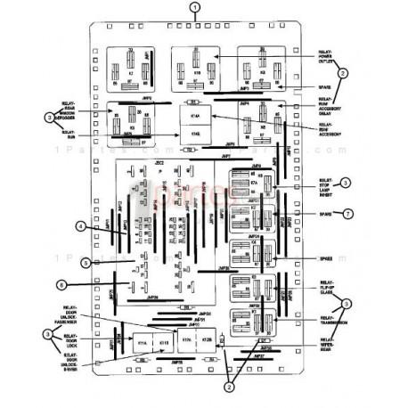 Fusiblera interior|Jeep|Grand Cherokee|WK|56050066AC|Grupo
