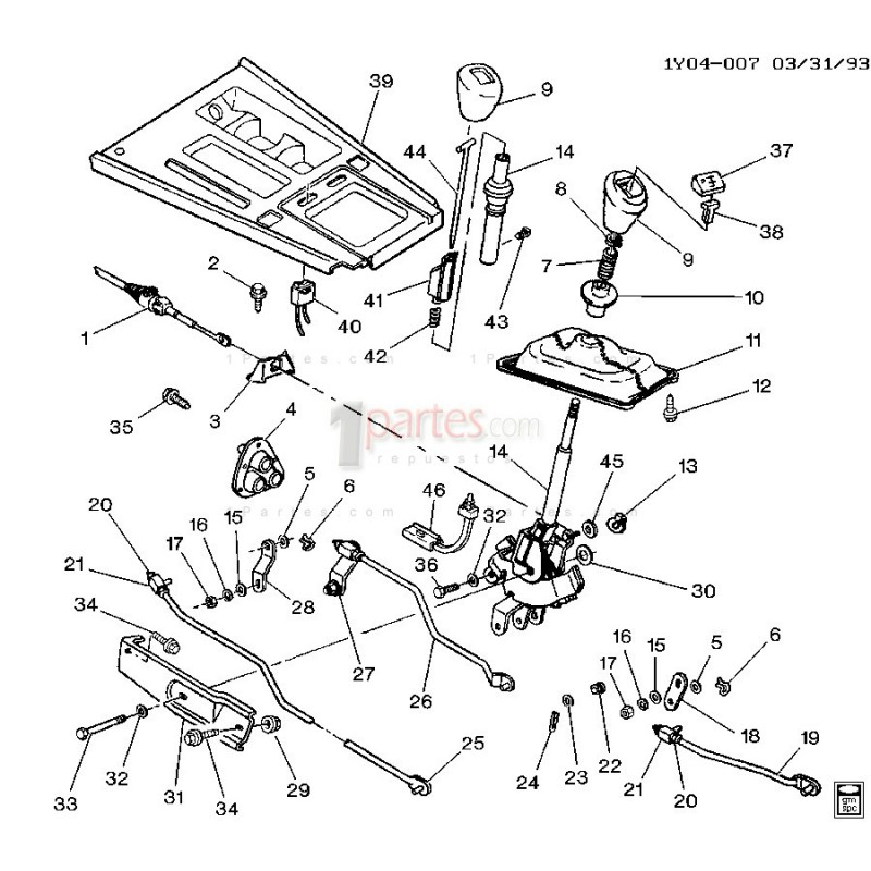 Botón de sobremarcha|Chevrolet|Corvette|C4|14087690|Grupo