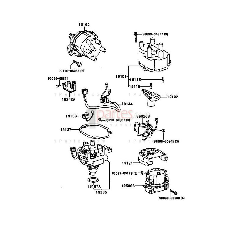 Módulo de ignición|Toyota|Corolla|Paseo|Prizm|E110|ZZE1