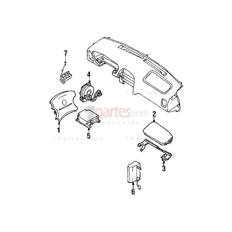 Cable espiral (cinta airbag) Nissan Pathfinder R50  Grupo