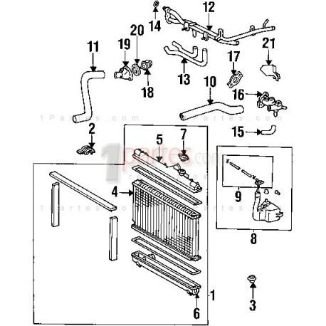 Manguera superior del radiador Toyota Celica T230 T200