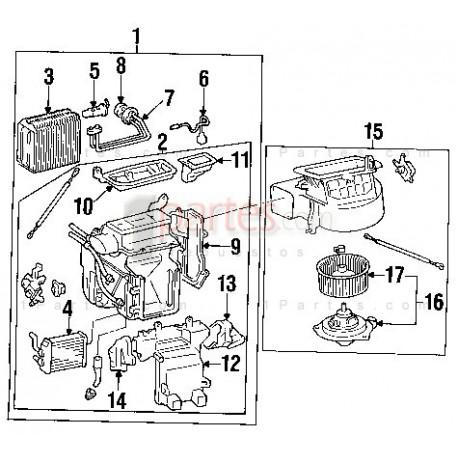 Válvula de expansión|Toyota|Camry|V40||Grupo: Aire