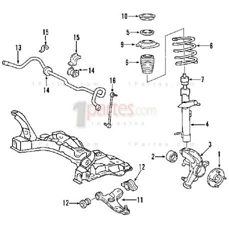 Base de amortiguador|Ford|Focus||Grupo: Suspensión delantera