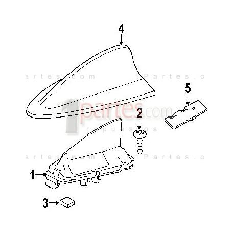 Antena (Fin type)|BMW|3 Series|E90||Grupo: Accesorios