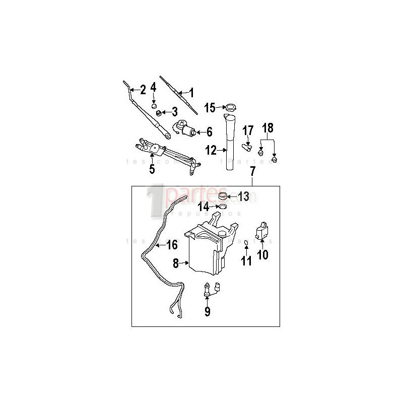 Envase de agua limpiaparabrisas Kia Sorento 986113E200
