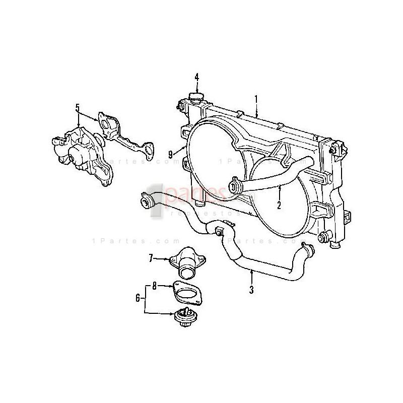 Manguera inferior radiador|Dodge|Caravan|Grand Caravan