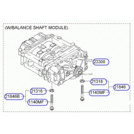 Balanceador con bomba de aceite Kia Sportage Hyundai Santa
