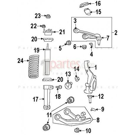 Muñón / rótula inferior|Jeep|Grand Cherokee|Liberty