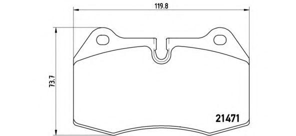 BREMBO High Performance Brake Pad Set 07.B314.36