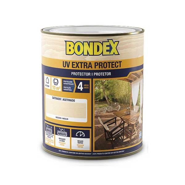 Bondex UV Extra Protector Madera Satinado Incoloro ipauto