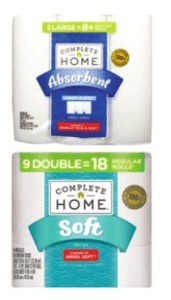 $2.99 Complete Home Paper Towels or Bath Tissue At Walgreens!