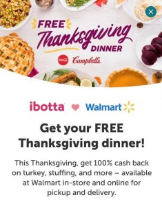 Ibotta Free Thanksgiving