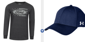 Men's Realtree Tee And Under Armour Hat $12.00