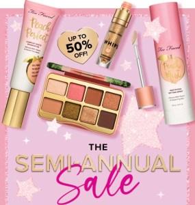 Too Faced Semi-Annual Sale #AmySaves