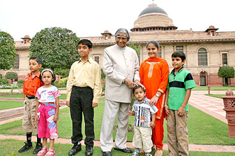 Dr Kalam With The Kids