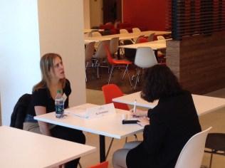 Ali Sternberg'12 mentoring a current WCL student.
