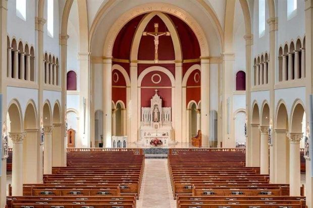 St Catherine of Siena Catholic Church, interior, in Wake Forest, NC