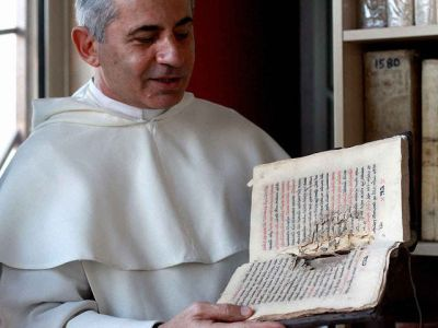 Father Najeeb Michaeel, a Iraqi Dominican monk, has been trying to further preserve Iraq's Christian texts by digitizing the ones he has been able to save.