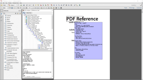 small resolution of  in a pdf file but it does not provide syntax highlighting for content streams image streams can be viewed as image or as binary
