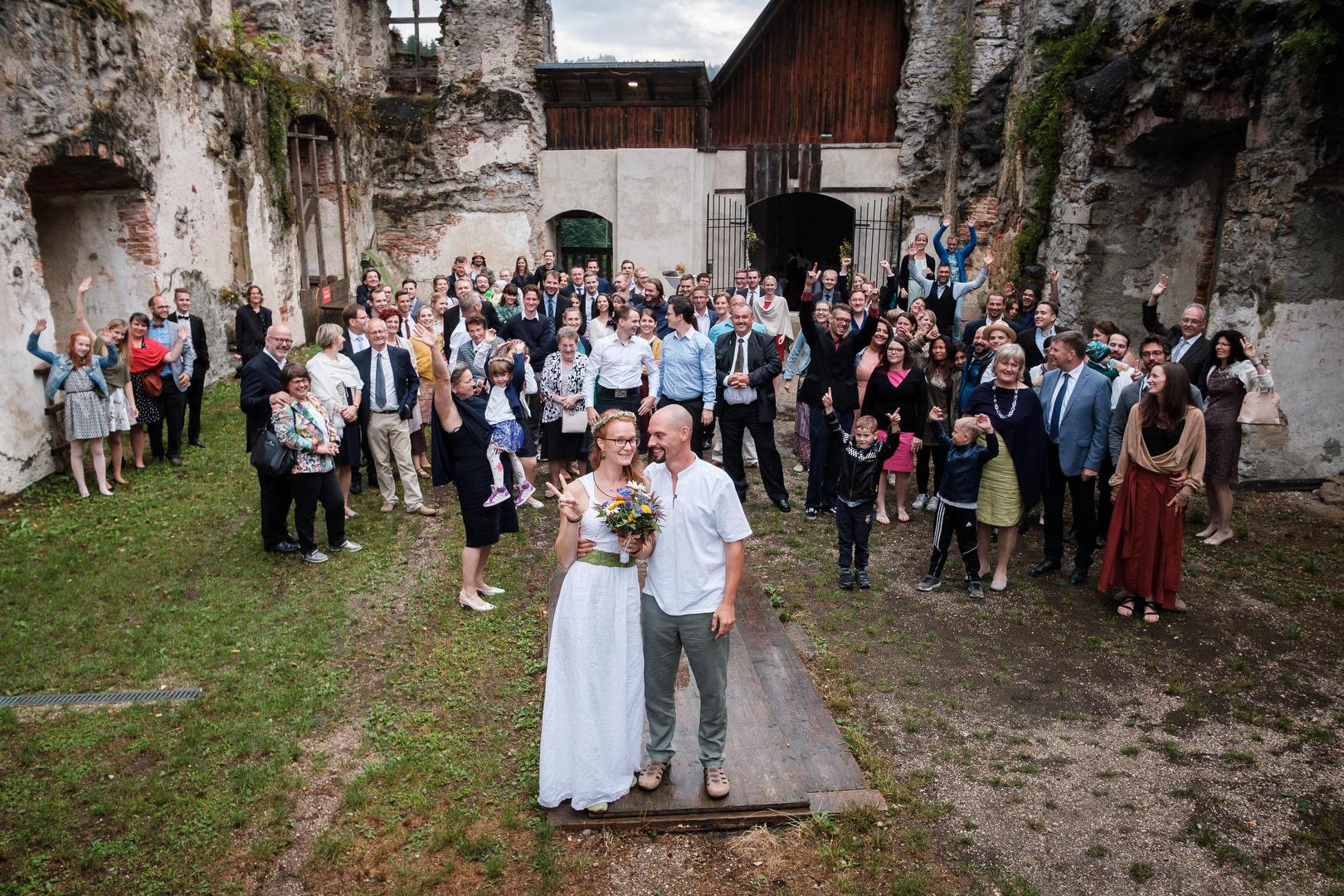 BohoHochzeit auf der Burg Reichenstein Christina und Michael