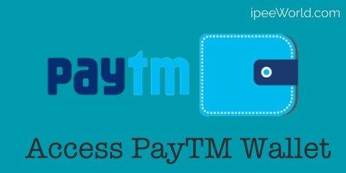 Access PayTM Wallet