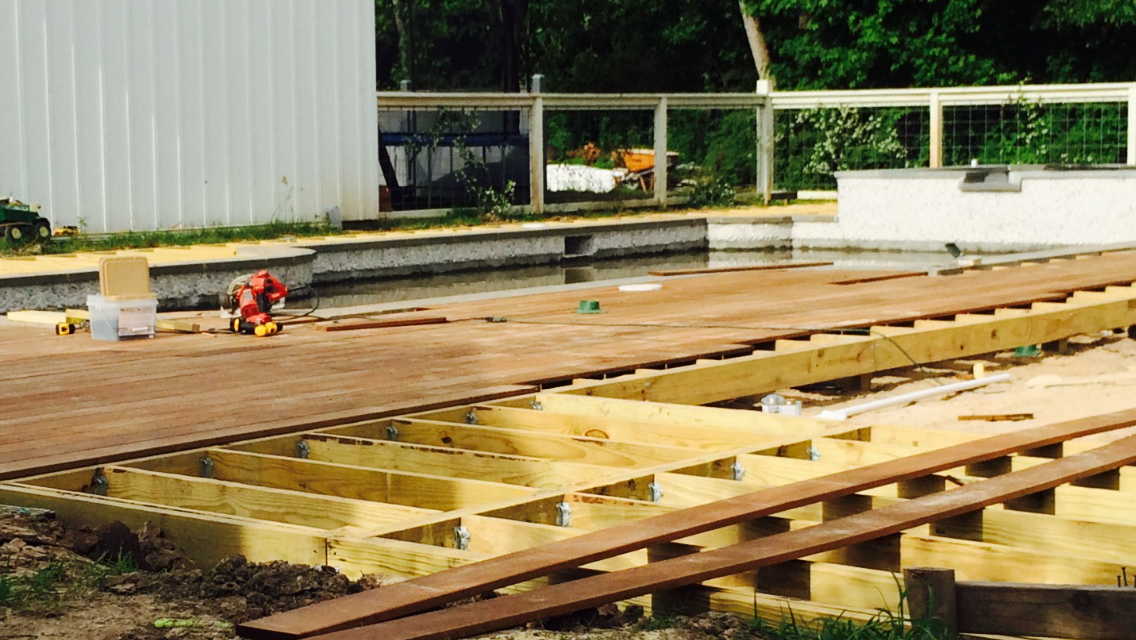 Ipe deck under construction.