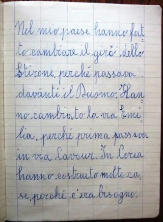 pensierino di seconda elementare di Susanna Albini - Nel mio paese Fidenza
