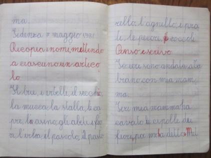 pensierino di prima elementare di Susanna Albini - Ieri pomeriggio