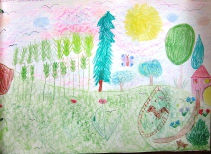 disegno delle elementari sulla primavera di Susanna Albini