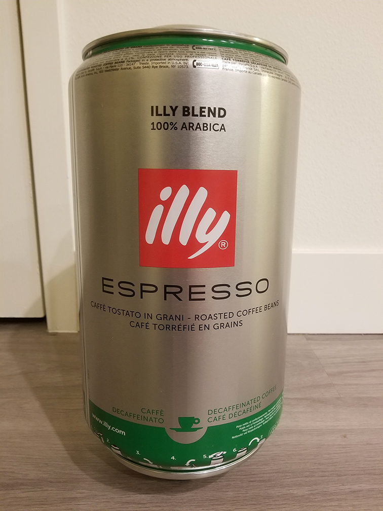 illy Decaf IKN 6.61 lb 3kg Tin Whole Coffee Beans - iper Nespress