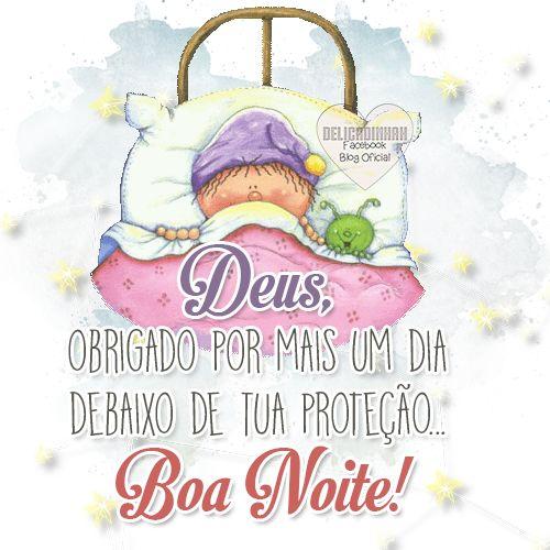 Boa noite na proteção de Deus